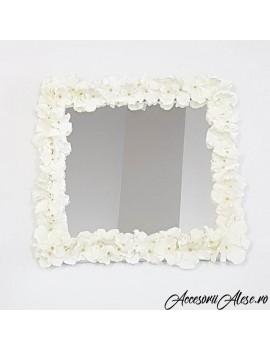 Oglinda mireasa cu flori