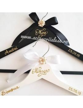 Umerase miri personalizate nunta scris scliipici auriu