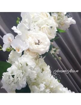 Leagan flori inchiriat naturale artificiale nunta botez eveniment majorat corporate firma petrecere