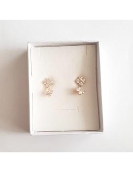 Cercei cristale Swarovski placati cu aur