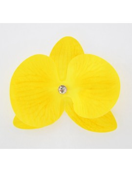 Cercel Orhidee galben