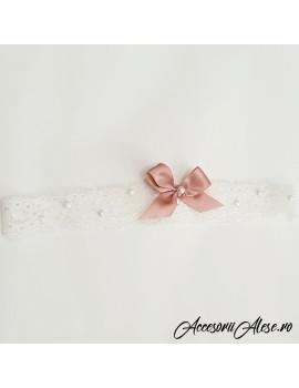 Jarteluta dantela mireasa perle funda roz