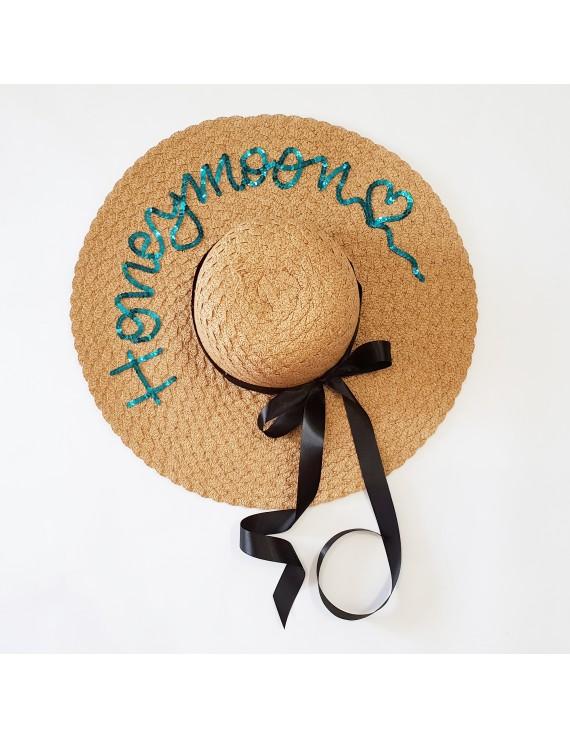 Palarie personalizata, cu mesaj honeymoon