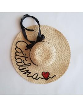 Palarie personalizata, cu mesaj , de plaja cu nume