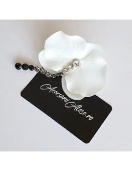 Cercel Orhidee alb