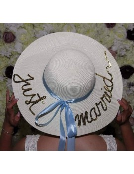 Palarie personalizata, cu mesaj Just Married