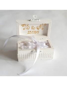 Cutie cu Pernuta verighete nunta