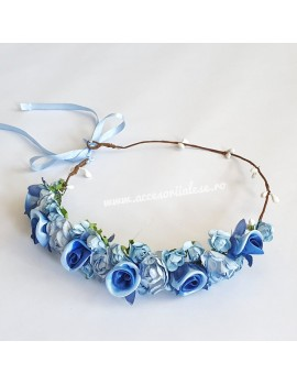 Coronita cu flori, domnisoare de onoare/mireasa pentru nunta sau ocazii fetite