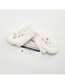 Manusi de iarna, personalizate cu cristale, pentru fetite - cadou craciun fiica nepoata