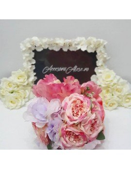 Buchet nunta pentru mireasa si nasa - mov lila