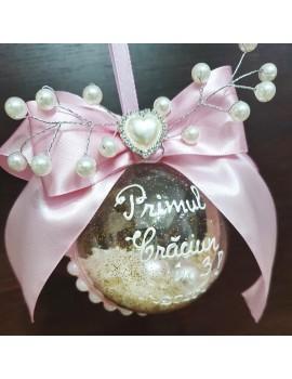 Globulet personalizat Craciun funda perle