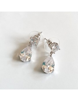Cercei mireasa lungi cristale eleganti