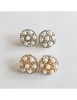 Cercei perle aurii sau argintii