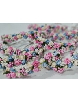 Coronita cu flori si voal - petrecerea burlacitelor