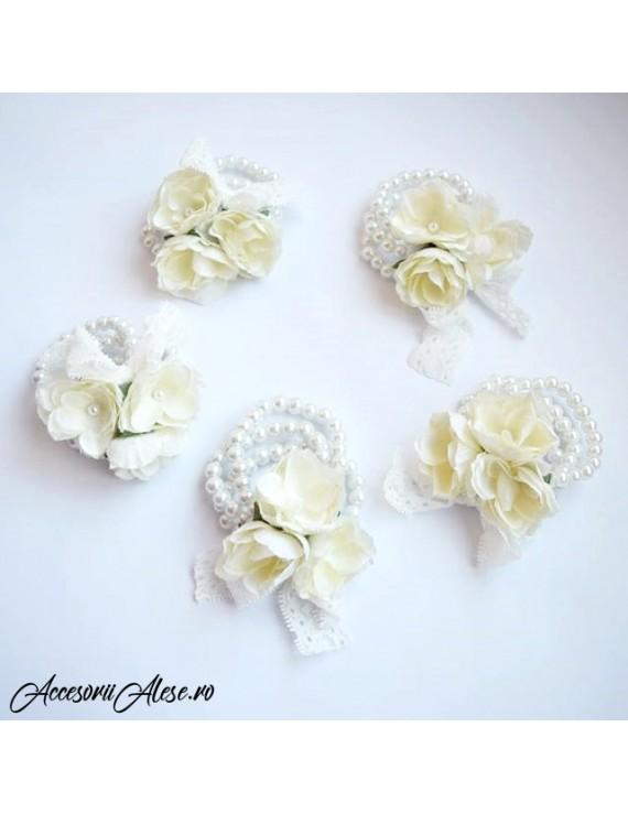 de unde pot cumpăra întâlni cel mai bine vândut Corsaje domnisoare de onoare/mireasa, cu bratari din perle si flori
