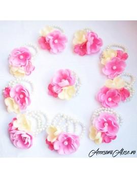Corsaje bratari flori domnisoare de onoare/mireasa nasa nunta soacra