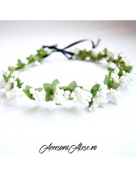 Coronita cu flori artificiale, domnisoare de onoare mireasa nunta
