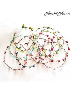Coronite cu flori artificiale - petrecerea burlacitelor