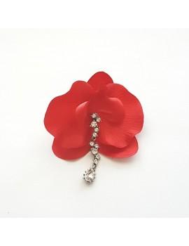 Cercel Orhidee rosu
