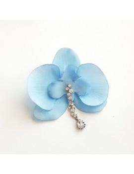 Cercel Orhidee bleu