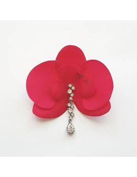 Cercel Orhidee fucsia