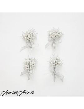 Cocarde nunta perle