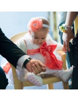 Set floare si bratara pentru fetita botez