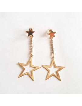 Cercei cu cristale stelute aurii sau argintii