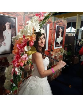 Umbrela cu flori de inchiriat pentru evenimente - nunta, botez